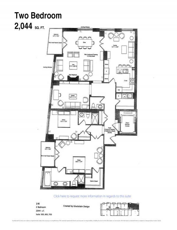 25 scrivener condo Toronto thornwood ll  luxury2 bedroom floor plans