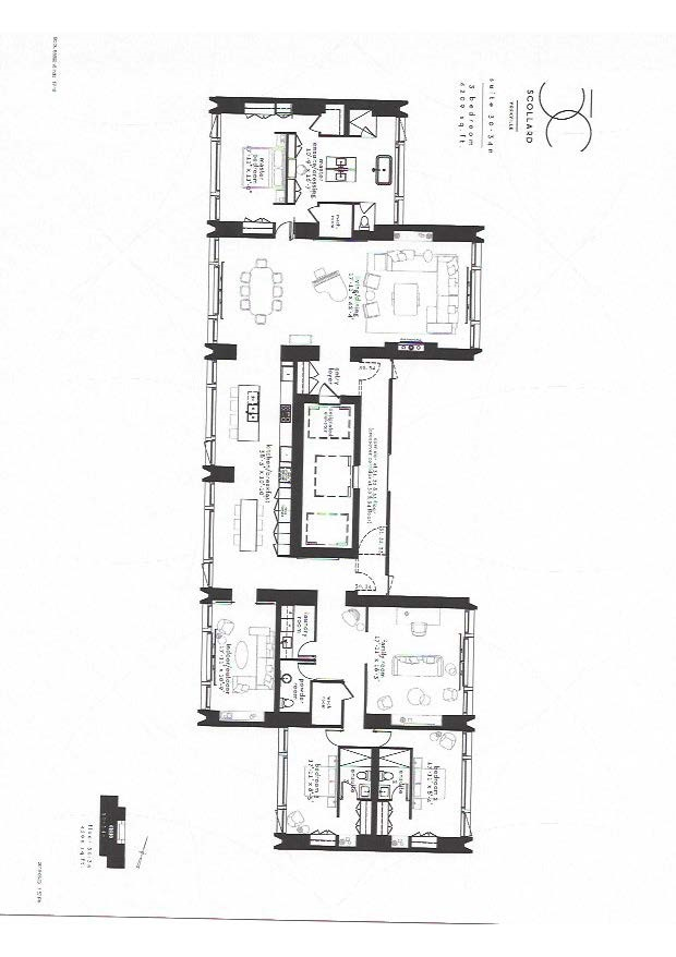 3 bedroom floor plan 6209 sq. ft. 50 scollard condo