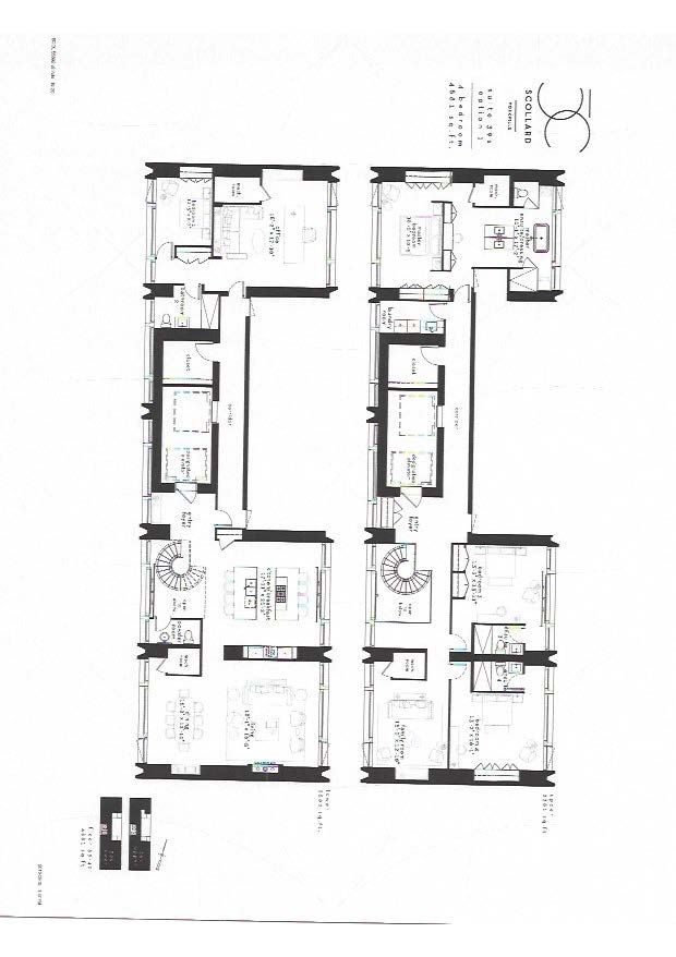4 bedroom floor plan 50 scollard condo 4501 sq ft