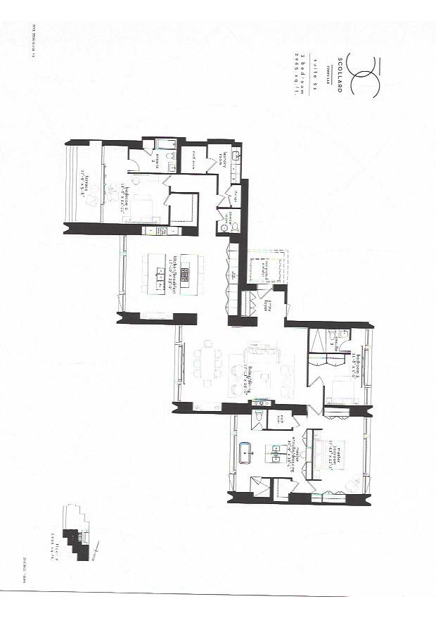 50 scollard condo 3 bedroom floor plan